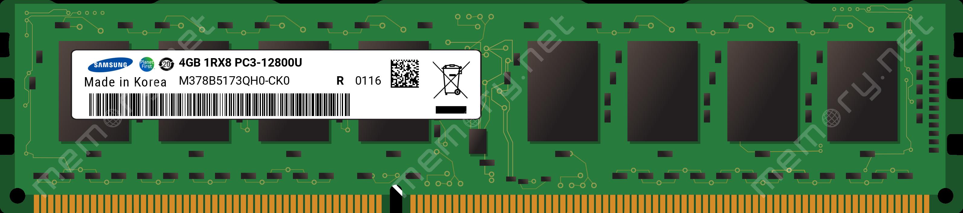 4GB Module DDR3 1600MHz Samsung M378B5173QH0-CK0 12800 NON-ECC Memory RAM