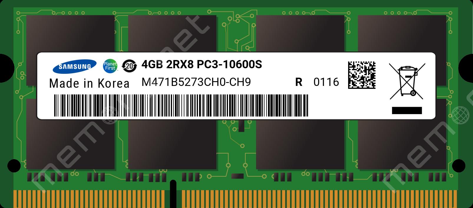 SAMSUNG 4GB RAM 2RX8 PC3-10600S